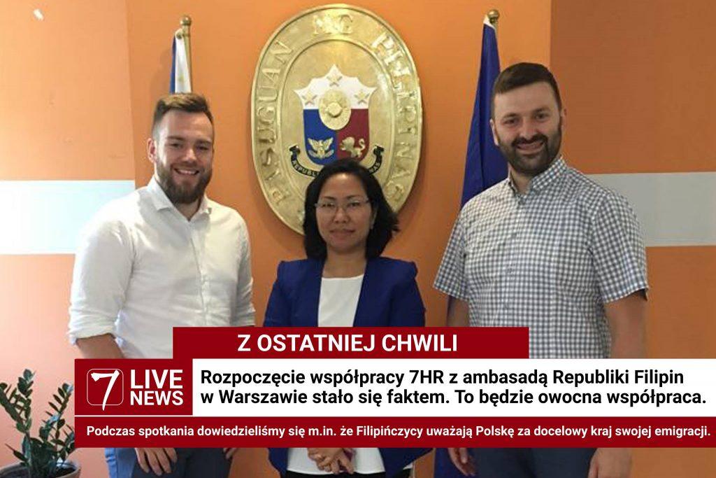 7HR z wizytą w ambasadzie Filipin w Warszawie